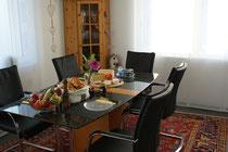Das Frühstück wird den Wünschen der Gäste angepasst!