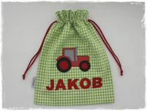 Turnbeutel Traktor Name