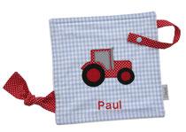 Schnullertuch Traktor Name