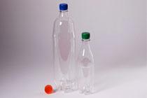 PET-bottle 0,5 & 1,5 l with screw caps