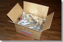 Aluminium-plastic bag in box