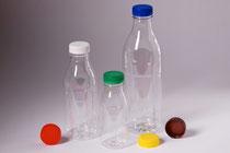PET-bottle 0,25 l/0,50 l/1 l  with screw caps