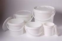 PP-bucket 1,18, 2,60, 3,30, 5,70 & 10,80 L with cap