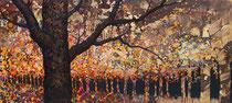 Exaltación del otoño. Acrílico sobre madera. 120x60 cm