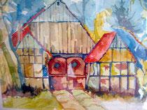 Nacke-Kotten, Aquarell von Walter Schnadhorst