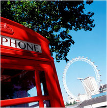 Telefonzelle mit London Eye
