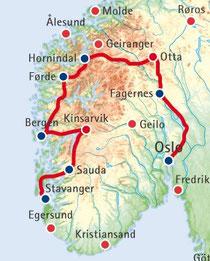 Norwegen-Rundreise mit den Höhepunkten des Landes