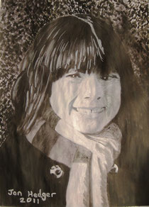 Emily At Kew by Jon Hedger watercolour painting .................... (c) copyright 2011