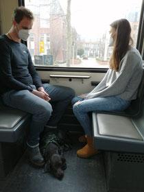 Die erste U - Bahn fahrt🐕🦺🚇👍