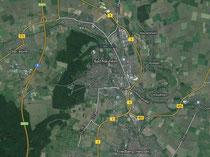 Bad Nauheim aus der Luft