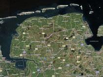 Ostfriesland - Wilhelmshaven aus der Luft