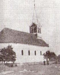 Crkva u Gornjoj Dubici. Fotografija iz pedesetih godina 20. stoljeća