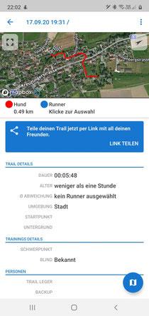 Trail von heute in Müllheim