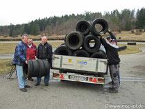 Abtransport der Reifen