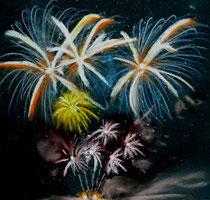 Feuerwerk im Nachthimmel