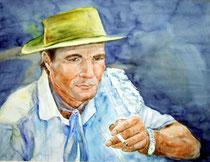 """""""El Gaucho"""" Aquarell, 50x60cm, (c)D.Saul"""