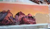 Berge-Pastell