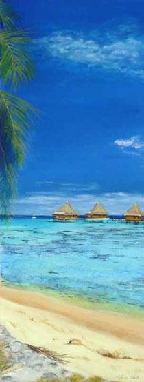 Insel-Strand-Malediven-Pastell