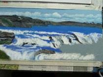 Wasserfälle in Pastell (Entstehung)