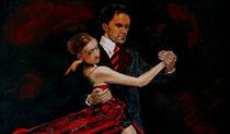 """""""Bailar de noche""""Pastell 30x50cm,(c)D.Saul 2014"""