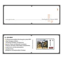 Briefmarke des Geologischen Dienstes NRW Abbildung: GD NRW