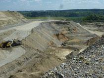 Sedimentabfolge der Dietmanns-Formation in der Kiesgrube Bittelschieß (zwischen Krauchenwies und Bittelschieß) Foto: C. Hoselmann