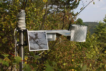 Foto 1: Monitoring Sendestation, Rutschung am Hasenberg, Ebermannstadt Foto: D. Jäger
