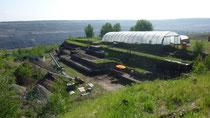 Der aktuelle archäologische Grabungsbereich im Tagebau Schöningen Foto: Christian Hoselmann