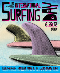 international surfing day poster
