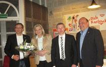 Lothar Schreiber, Margarete Ziegler-Raschdorf, ich und Markus Meysner