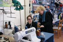 A l'atelier du Caillou gris, stage de couture