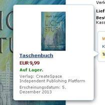 """""""Lichtsturm"""", als Taschenbuch bei Amazon"""