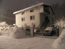 Pensjonat Villa banita w zimowej scenerii. Fot.Joasia69