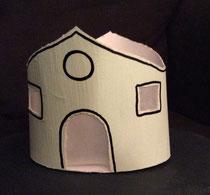 Laternenhaus aus Papiertuchspender