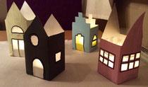 Laternenhäuser aus Milchtüten