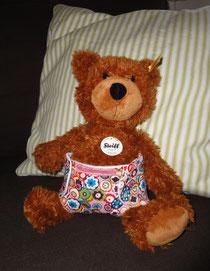 Teddy mit selber genähter Windel