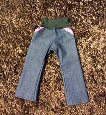 Schnabelinose aus Jeans mit Bündchen