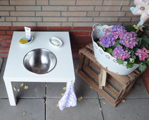 Waschtisch für den Garten