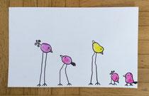 Schräge Vögel aus Fingerabdrücken