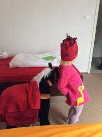 Mütze und Pferdedecke