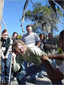 A student Emerging Leaders Program activity I facilitated as Director of Student Life, Hilton Head, SC, 2004. Nicole Harper©