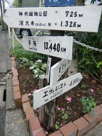 ▲国立天文台近くで出会った道標