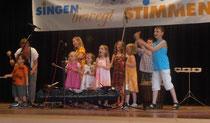 Auf der Bühne in Bad Wimpfen (Juli 2014)