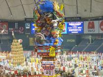 東京ドームにそびえ立つ五所川原ねぷた!鹿嶋大明神と地震鯰