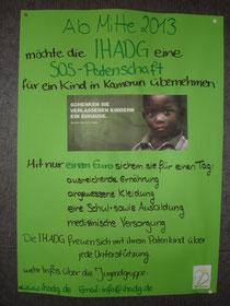 Werbeplakat für unser Patenkind