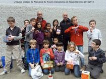 Les enfants de L'ALAE Daudet entraînés par Marc Foing terminent champions des écoles de haute Garonne
