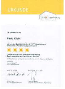4-Sterne Klassifizierung des DTV