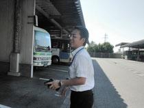いわくにバスへの想いを語る上田社長
