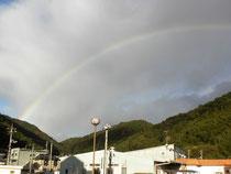 コンサートの帰りに見た虹