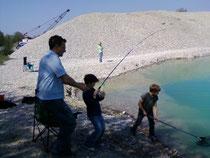 Jugendfischen am Baggersee